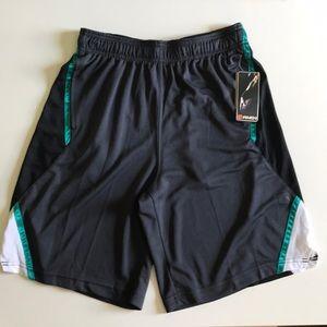 AND1 NWT Basketball Shorts Men's Medium Grey Teal